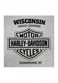 Harley-Davidson Hommes Gear Badge Chest Pocket manches courtes T-Shirt - Gray 30292408