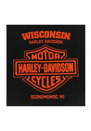 Harley-Davidson Hommes Phenomenon Eagle manches courtes T-Shirt - Solid Noir 30292304