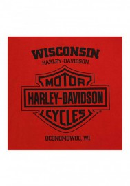Harley-Davidson Hommes Steamroller col rond manches courtes Cotton T-Shirt Red 30292315
