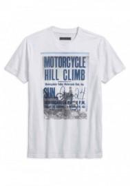 Harley-Davidson Hommes Hill Climb Slim Fit manches courtes Tee Shirt White 96230-18VM