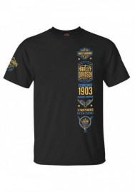 Harley-Davidson Hommes Stockpile col rond manches courtes T-Shirt - Noir 30298351