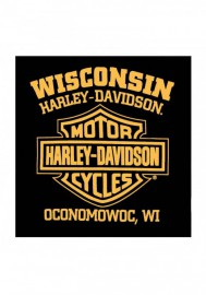 Harley-Davidson Hommes Stockpile col rond manches courtes T-Shirt - Noir 30298351