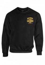 Harley-Davidson Hommes Custom V Eagle Fleece Pullover Crew Sweatshirt - Noir 30298992