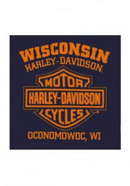 Harley-Davidson Hommes Scorch B&S Pullover Poly-Blend Sweat à capuche - Navy Blue 30292422