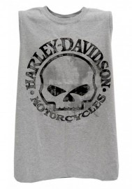 Harley-Davidson Hommes Willie G Skull Muscle Tank Top Sleeveless Tee Shirt 30296650