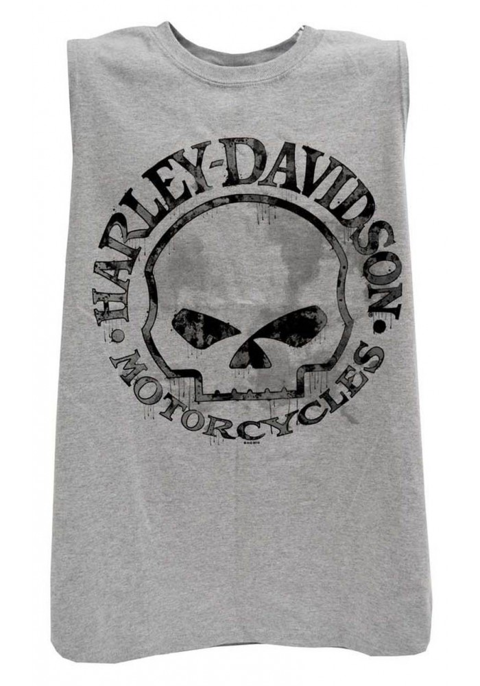 Harley-Davidson Hommes Willie G Skull Muscle Tank Top Sleeveless Tee Shirt 30296650