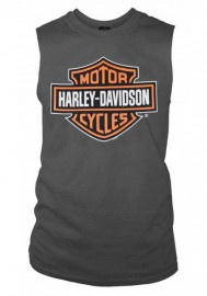 Harley-Davidson Hommes Bar & Shield Muscle Shirt Tank Top Charcoal Tee Shirt 30296624