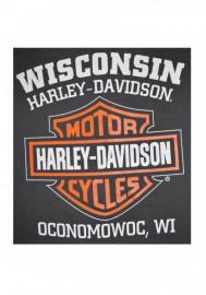 Harley-Davidson Hommes Bar & Shield Muscle Shirt Tank Top Charcoal Tee Shirt 30296624