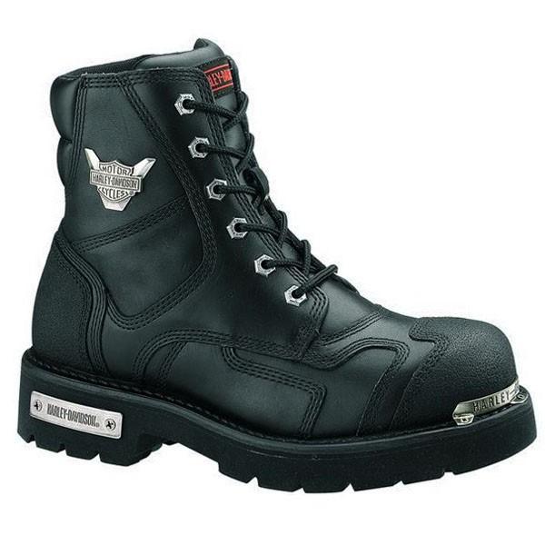 boots harley davidson stealth en cuir noir ref d91642 homme. Black Bedroom Furniture Sets. Home Design Ideas